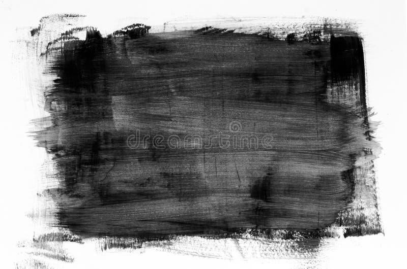 黑水彩绘画纹理 免版税库存图片
