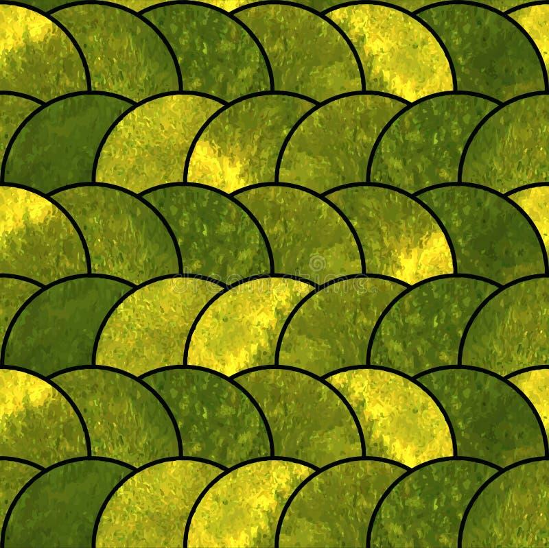 水彩绿色抽象无缝的墙纸 皇族释放例证