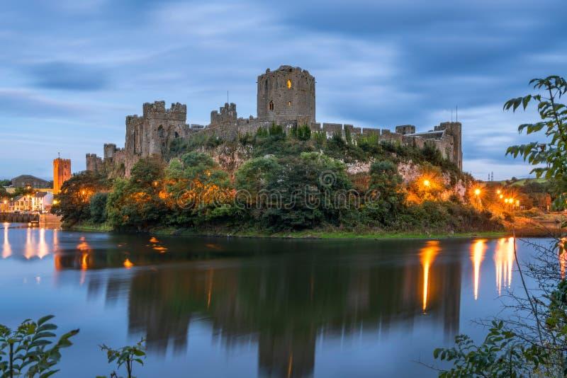 彭布罗克角城堡在南威尔士 免版税库存图片