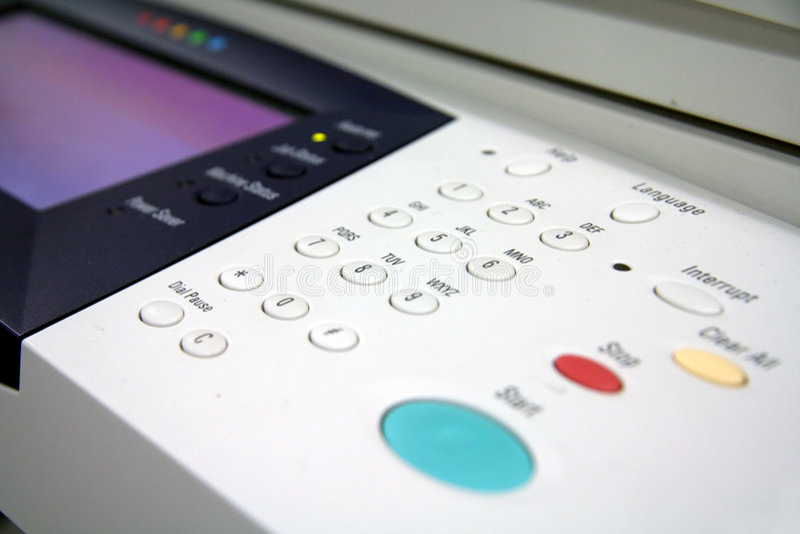 影印机传真打印机 免版税库存照片