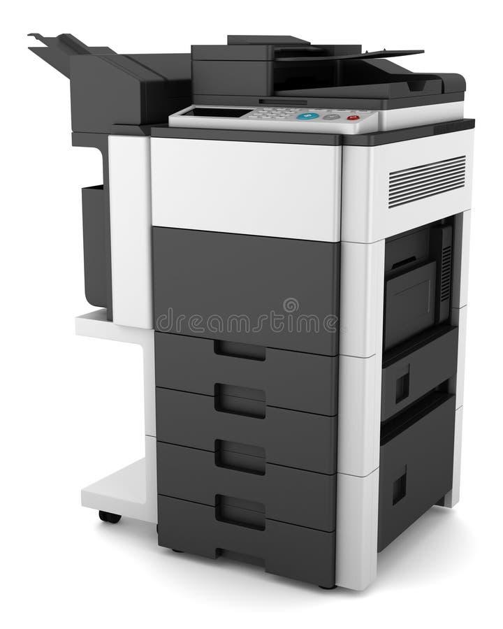 影印机查出的多功能办公室白色 皇族释放例证