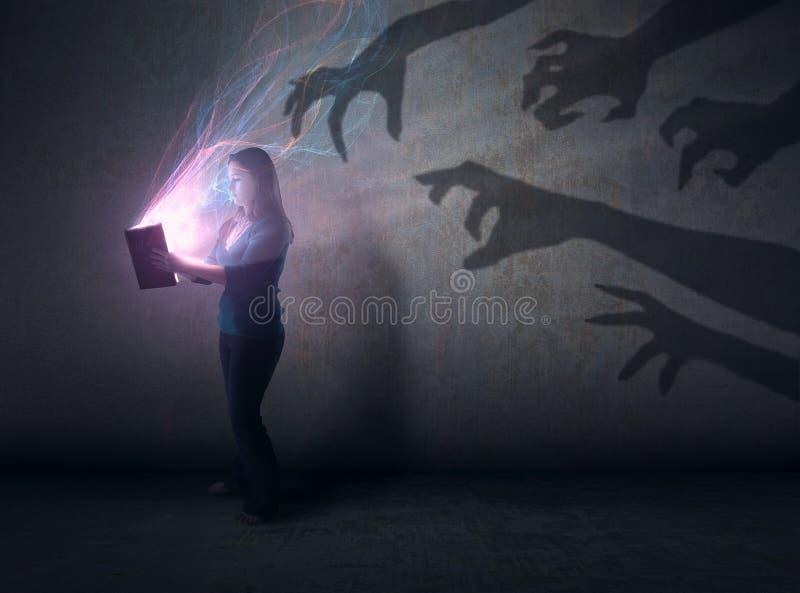阴影和圣经 库存图片