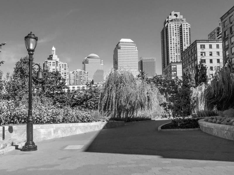 阴影在城市 库存照片