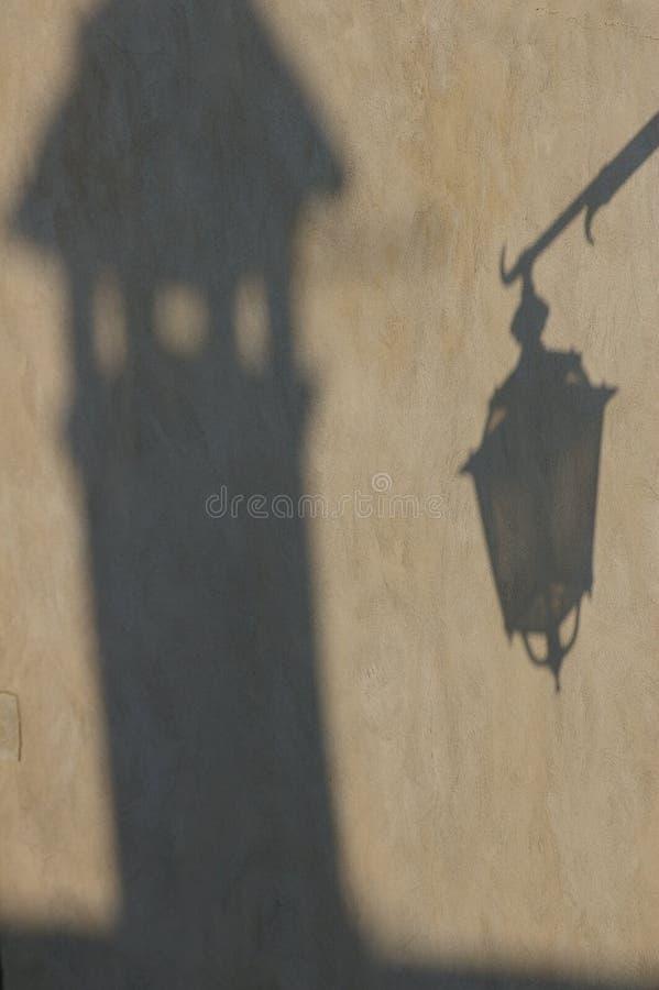 影子墙壁 免版税库存照片