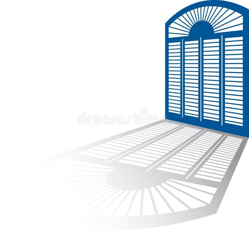 影子视窗 向量例证