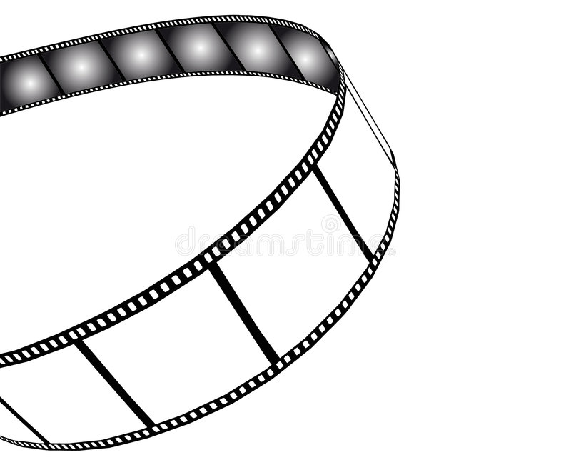 影片例证查出的电影照片 库存例证