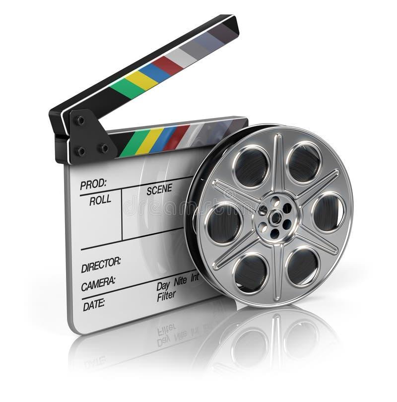 影片和拍板 向量例证
