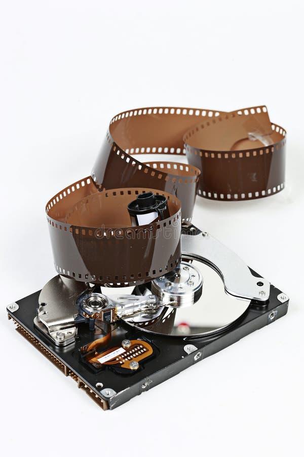影片和硬盘驱动器 免版税库存图片