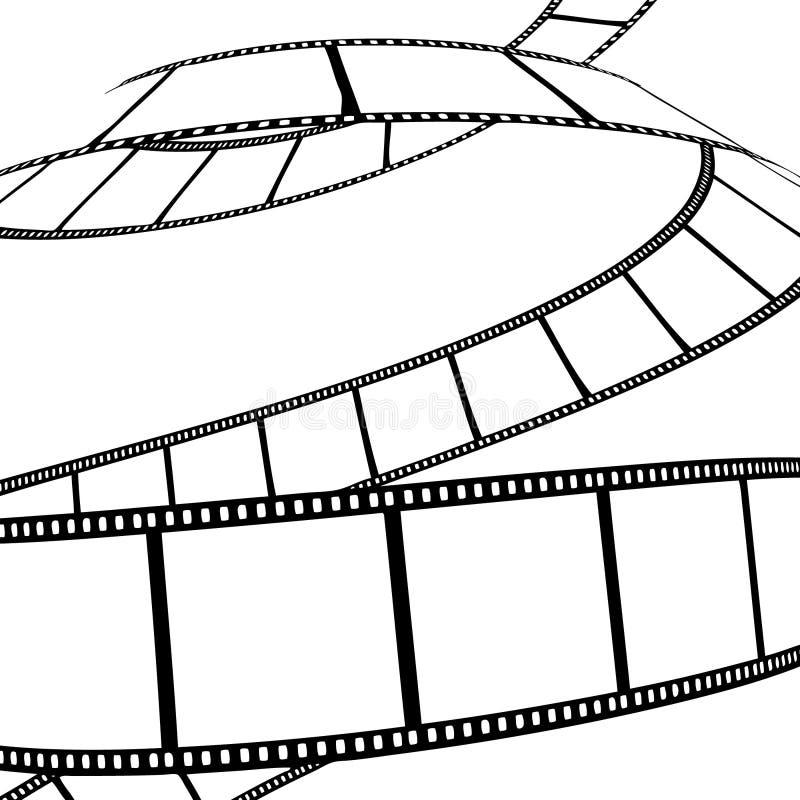 影片查出的电影照片 向量例证