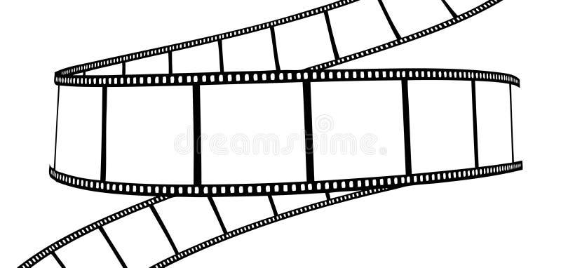 影片查出的电影照片 库存例证