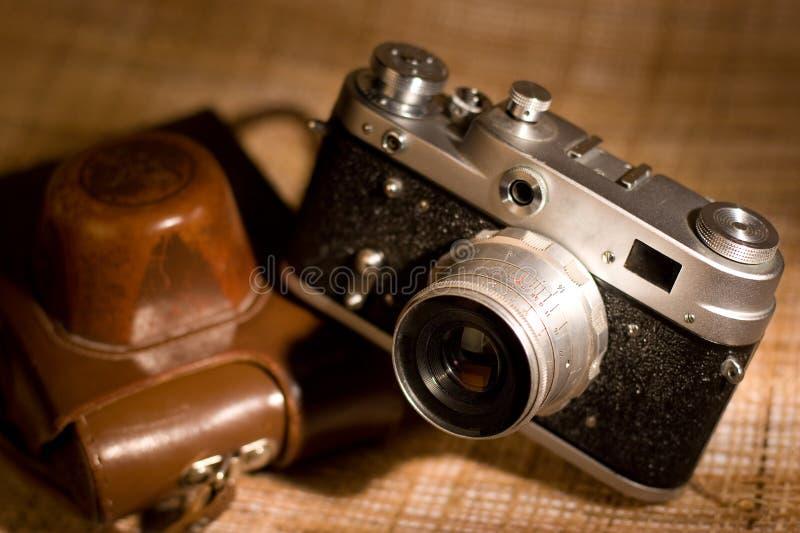 影片老photocamera 免版税库存图片