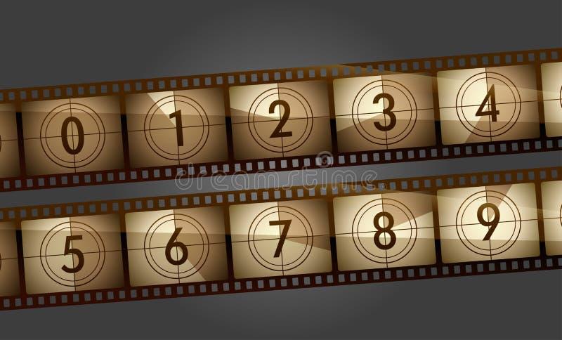 影片计数器 向量例证