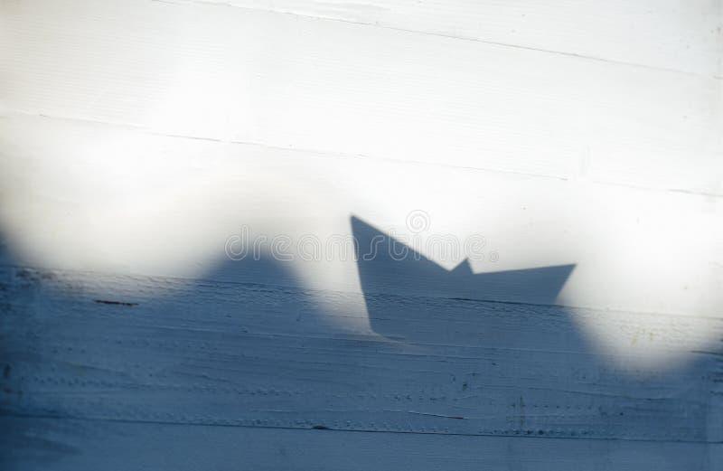阴影origami 免版税库存图片