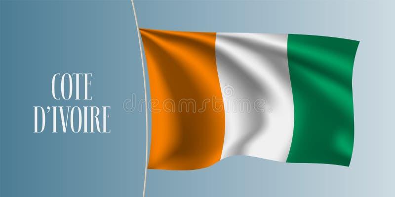 彻特D ` ivoire挥动的旗子传染媒介例证 皇族释放例证