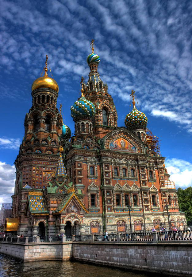 彼得斯堡俄国圣徒 库存图片