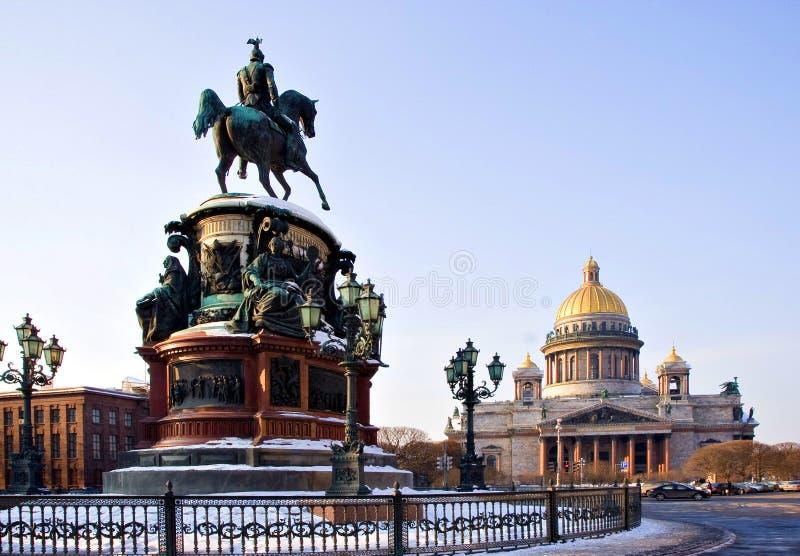 彼得斯堡俄国圣徒 免版税库存照片