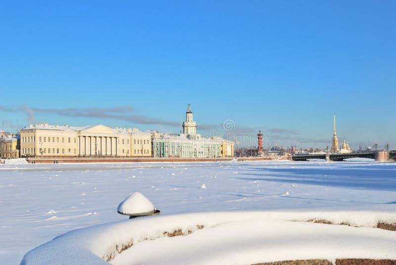 彼得斯堡多雪的st 图库摄影