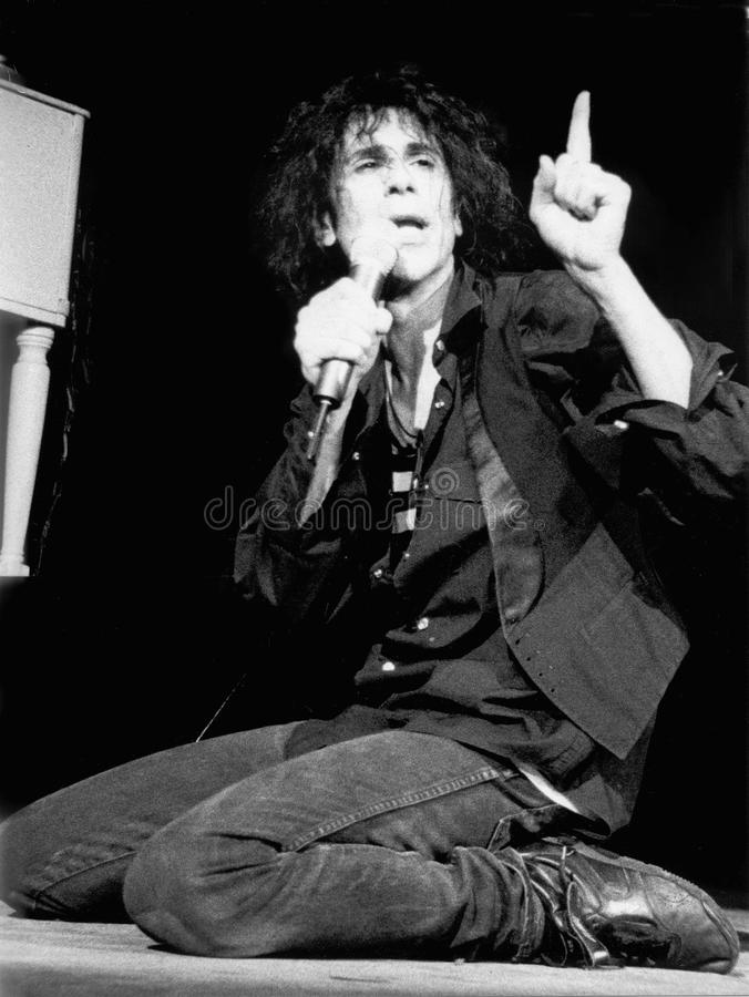 彼得狼执行他的J Geils带在House of吹管-波士顿Ma击中1995年由埃里克L 约翰逊摄影 库存图片
