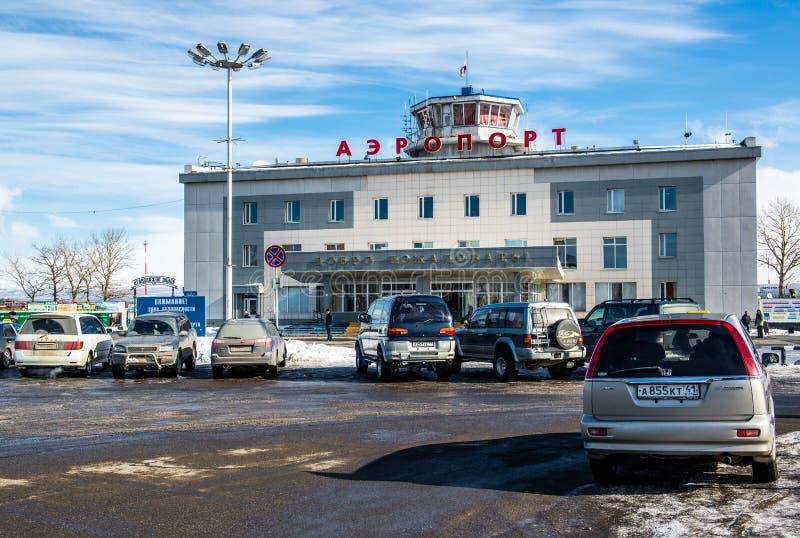 彼得罗巴甫洛斯克Kamchatsky机场外部  免版税图库摄影