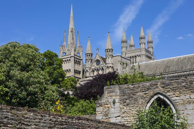 彼德伯勒大教堂在英国 免版税库存照片