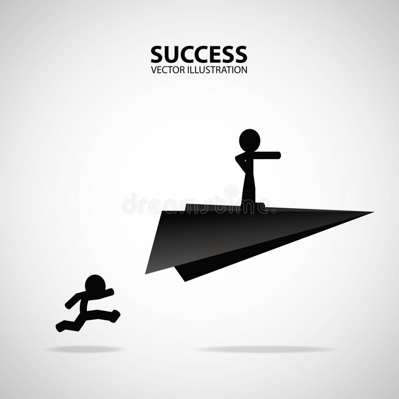 征服患难的企业成功概念克服领导挑战志向志向刺激赶紧  向量例证