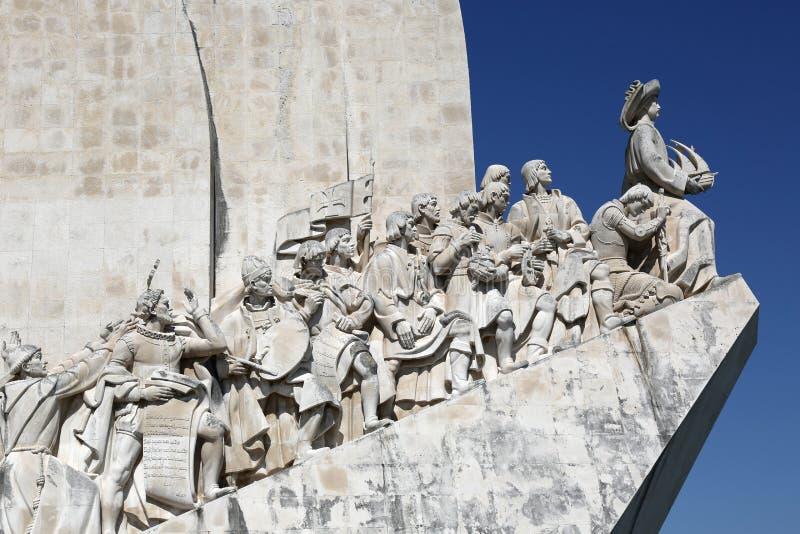 征服者的纪念碑在里斯本葡萄牙 免版税库存照片
