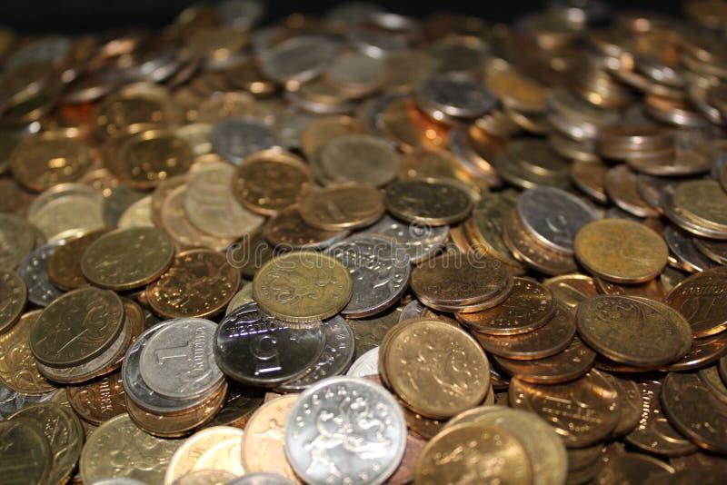 很多硬币 免版税库存图片