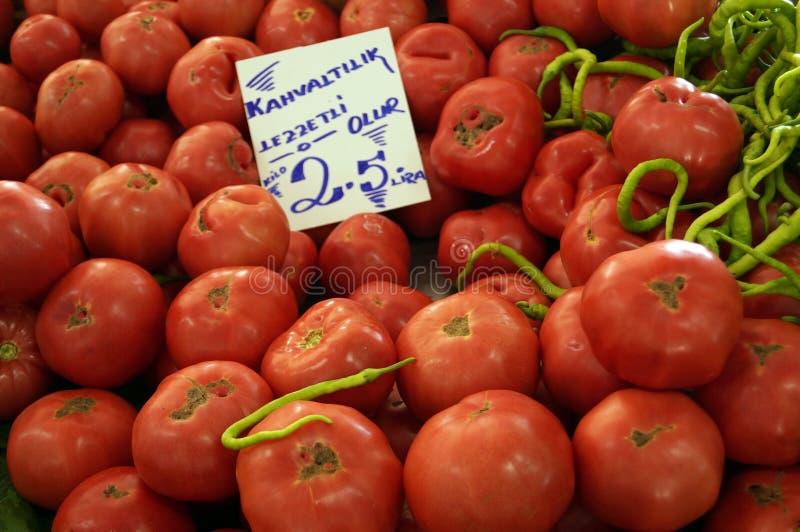 很多红色成熟蕃茄 免版税图库摄影