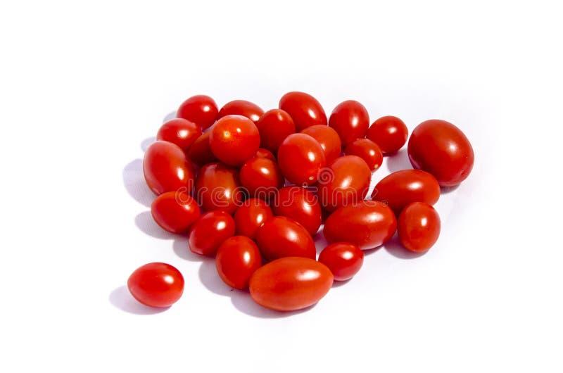很多超级明亮的红色西红柿 免版税库存照片