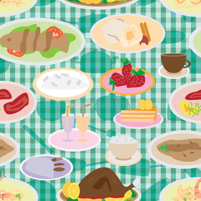 很多食物无缝的Pattern_eps 皇族释放例证