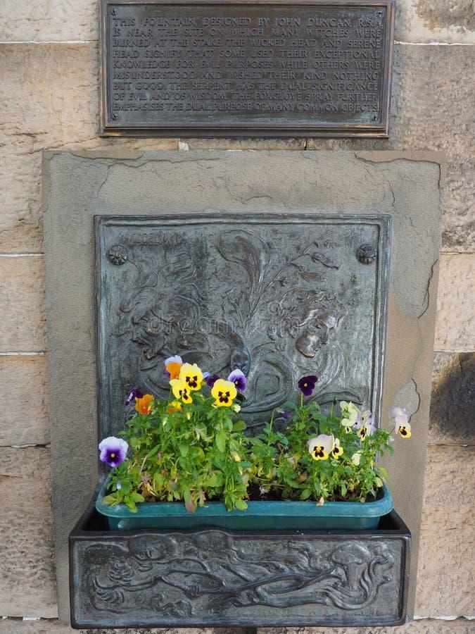 很好巫婆在爱丁堡 库存照片