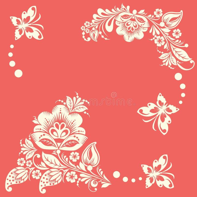 很好提取被添加的背景蝴蝶花卉格式明信片诉讼向量 皇族释放例证