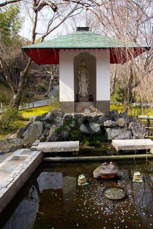 很好祝愿在寺庙在京都 免版税图库摄影