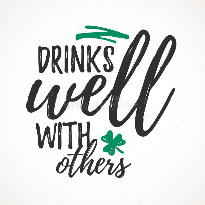 很好饮料与其他 向量例证
