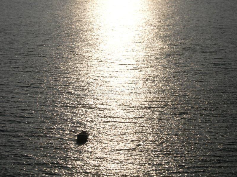 很孤独在生活和海洋 免版税库存照片
