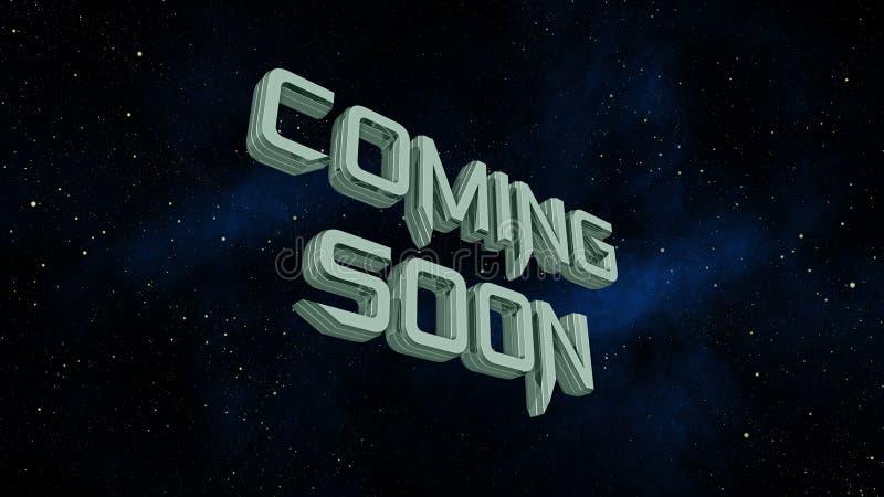 很快来在空间星系背景的消息 皇族释放例证