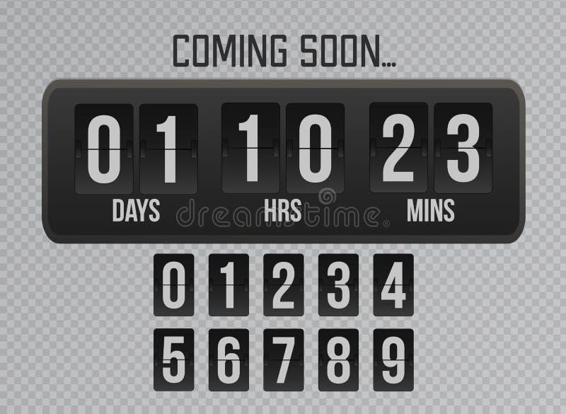 很快来轻碰时钟在灰色背景的定时器读秒 网站轻碰定时器模板 向量例证