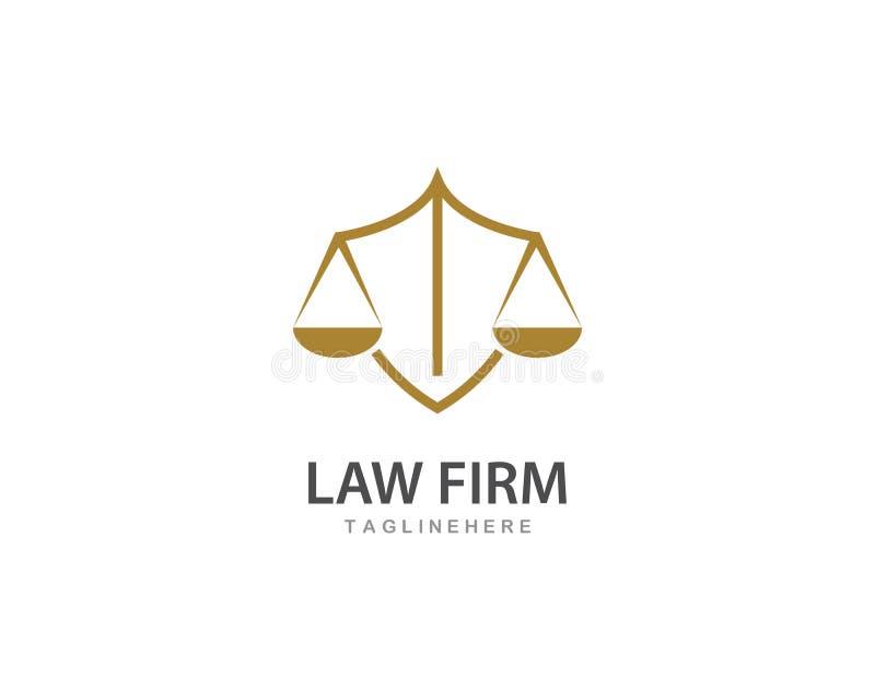 律师事务所商标传染媒介 向量例证