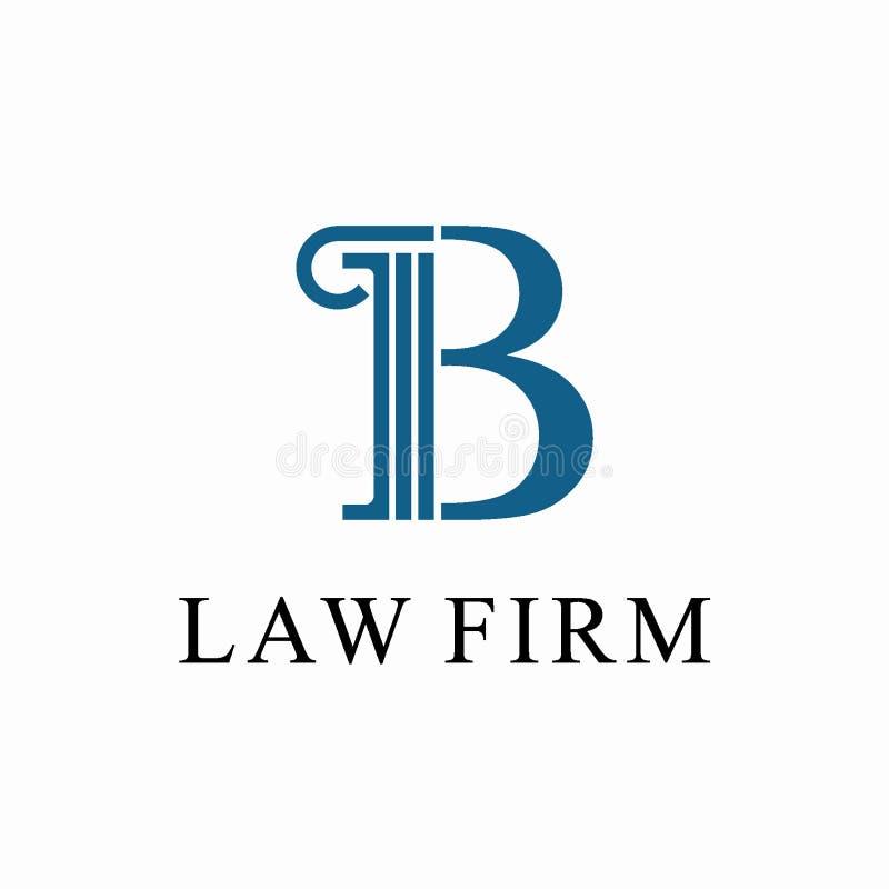 律师事务所商标设计模板的最初的B 皇族释放例证