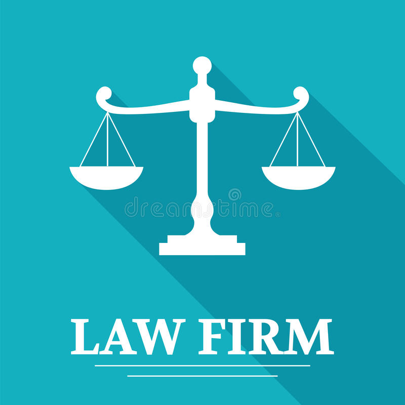 律师事务所商标 库存例证