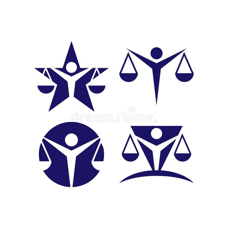 律师商标和象模板传染媒介 皇族释放例证