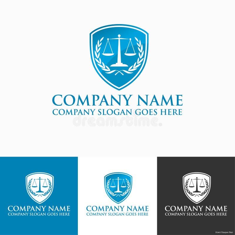 律师商标 向量例证