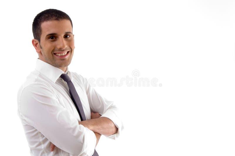律师英俊的姿势年轻人 库存图片