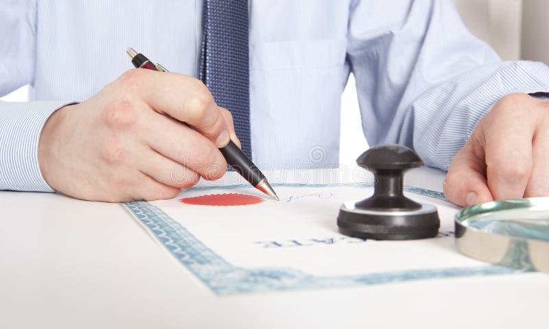 律师,公证员 免版税库存照片