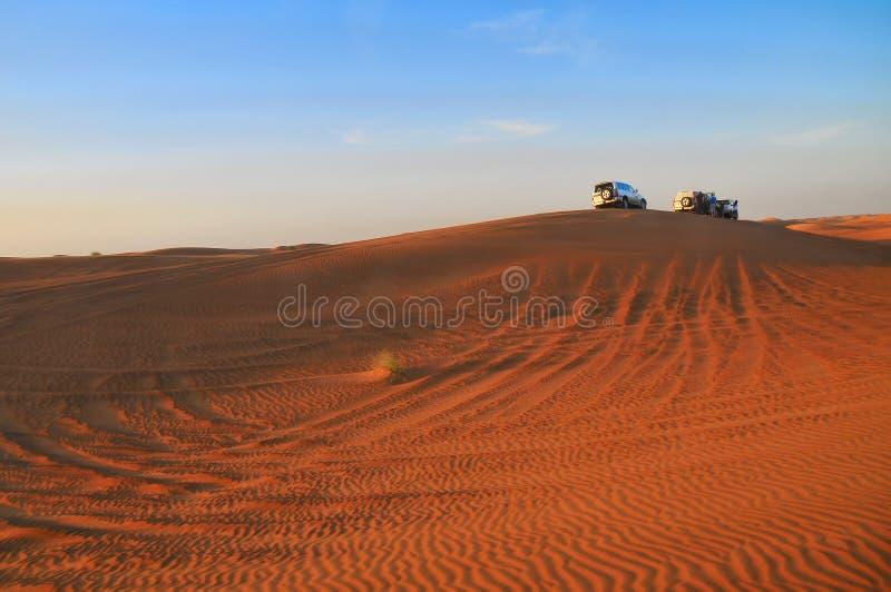 徒步旅行队阿拉伯联合酋长国 免版税图库摄影