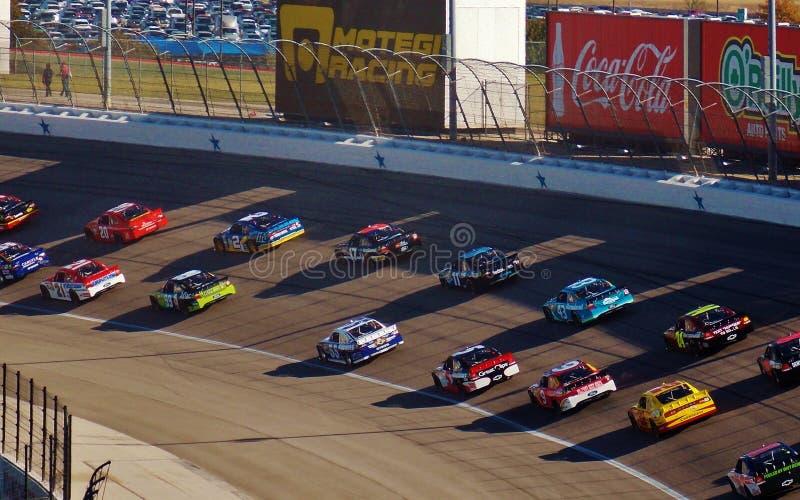 得克萨斯与全国运动汽车竞赛协会的汽车赛车场 免版税图库摄影