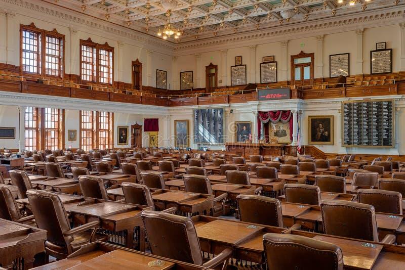 得克萨斯众议院房间 库存照片