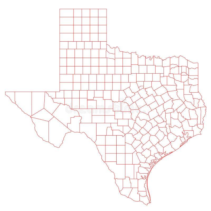 得克萨斯地图 库存例证