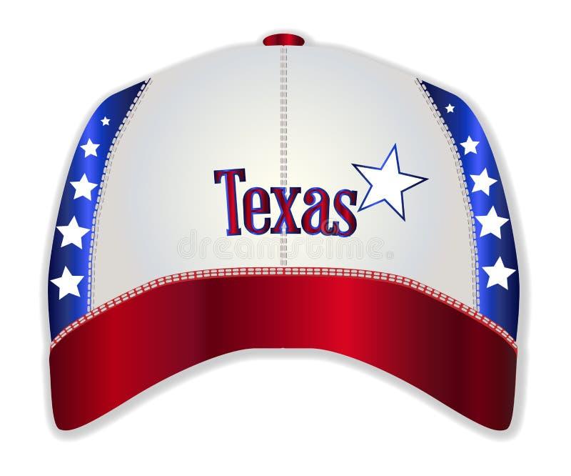 得克萨斯棒球帽 皇族释放例证