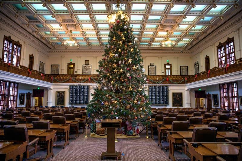 得克萨斯状态国会大厦众院 图库摄影
